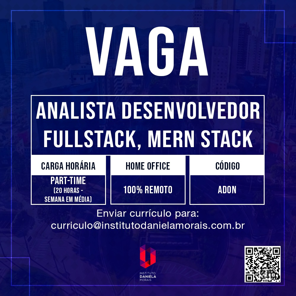 Analista Desenvolvedor Fullstack, Mern Stack